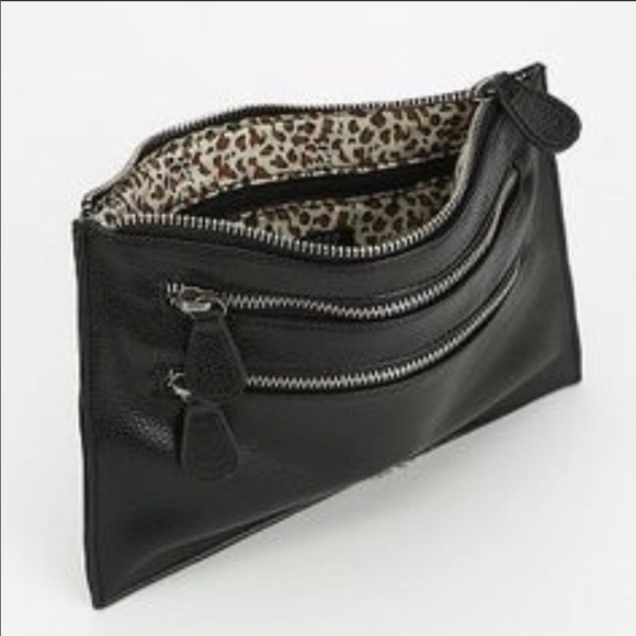 Urban Outfitters Handbags - URBAN OUTFITTERS TRIPLE ZIP CLUTCH
